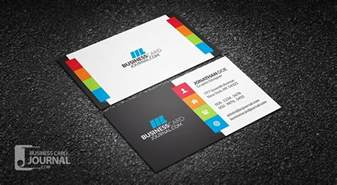 colors for business cards free vibrant multi color business card template