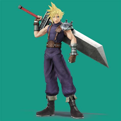 Amiibo Cloud Vii Smash Bros Series oogle on vii s cloud strife in smash bros in screenshots aplenty