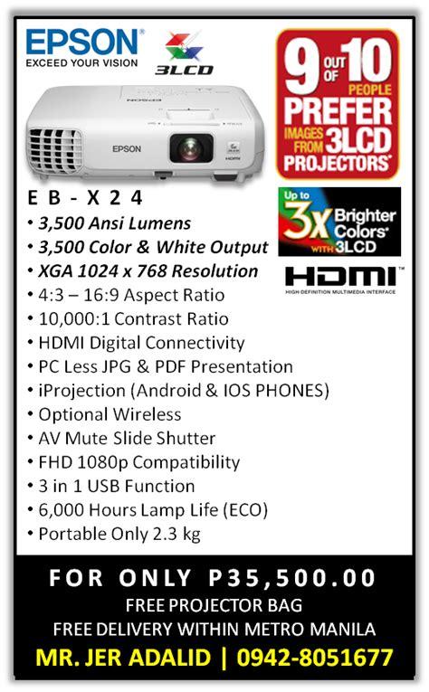 Proyektor Epson Eb X24 epson ebs18 lcd projector epson ebs18 portable 3 000 ansi lumens lcd projector