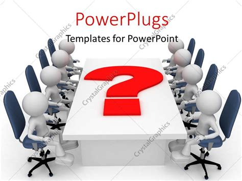 powerpoint template a number of employees in the meeting