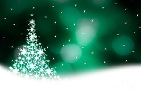 green christmas tree illustration photograph by kati finell