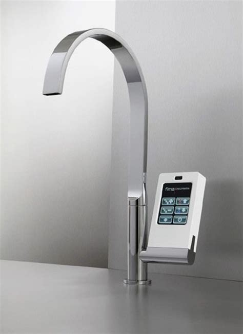 kitchen touch faucets hi tech kitchen faucet with touch screen controller digsdigs