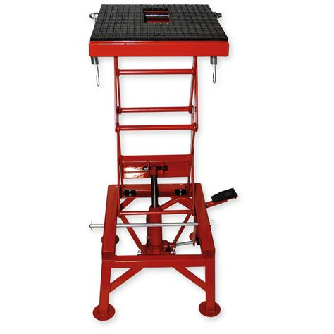 lift bench 300lb 135kg hydraulic motorcycle workbench lift bike atv