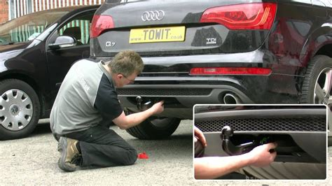 audi  westfalia towbar youtube