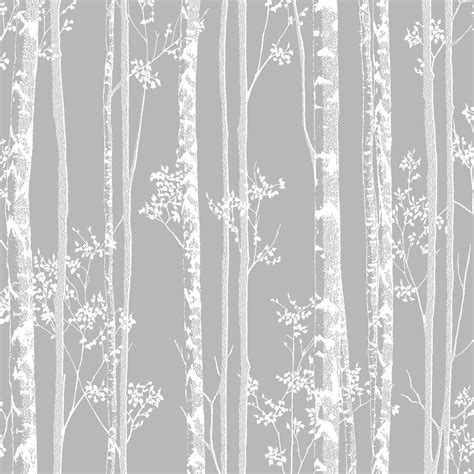 grey wallpaper with trees graham brown linden grey trees fibrous wallpaper