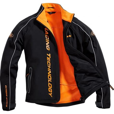 flm motor sports soft shell jacket  orange