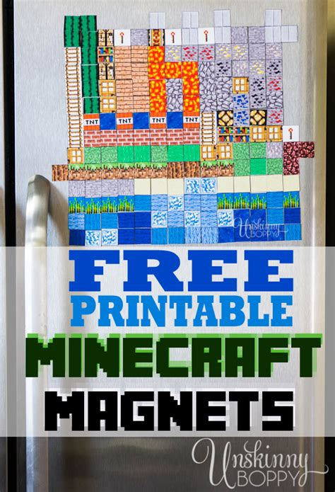 Handmade Minecraft - minecraft magnets make your own free printable
