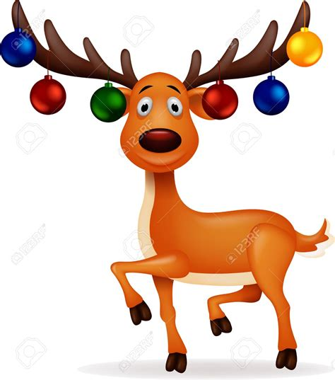 reindeer with christmas lights clipart clipartxtras