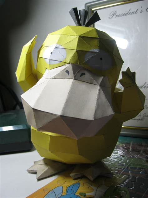 paper craft steps psyduck papercraft 183 how to make a paper model