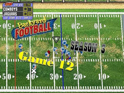 backyard football pc game backyard football 1999 pc season 3 game 12 how low can you go gogo papa