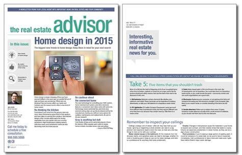 real estate advisor newsletter template volume 4 issue 3
