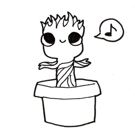 coloring page baby groot groot pages coloring pages