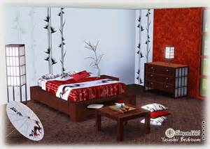 asian inspired bedroom furniture my sims 3 blog yasashii bedroom set by simcredible designs