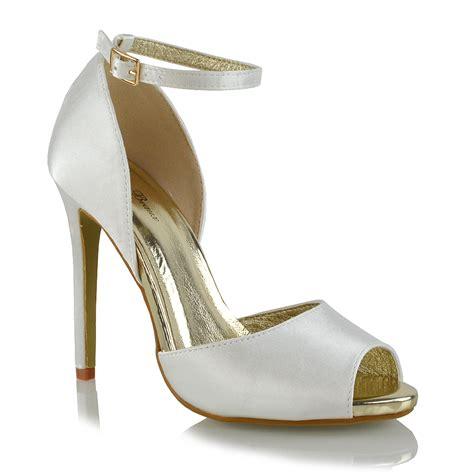 High Heel Peep Toe Sandals womens ankle high heel sandals peep toe cut