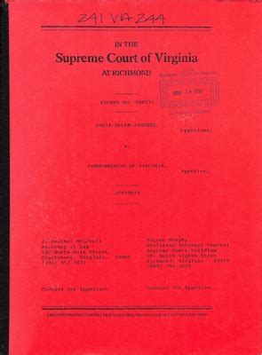 View Court Records Virginia Supreme Court Records Volume 241 Virginia Supreme Court Records