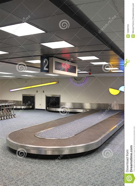 united baggage claim vertical airport baggage claim carousel stock photo