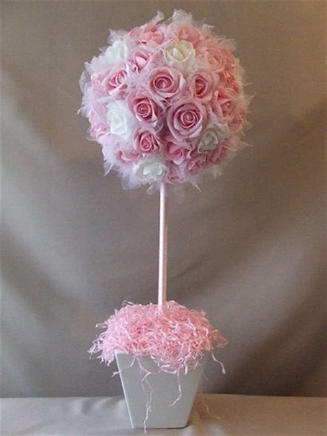 tulle topiary diy ribbon topiary centerpieces crafts