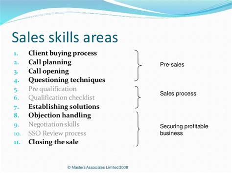 basic sales skills