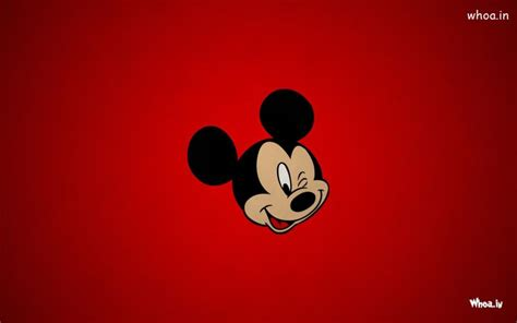 Wallpaper Cartoon Red | mickey mouse face with red background hd cartoon wallpaper