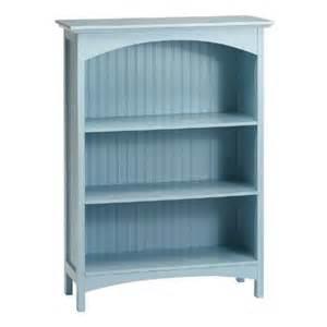 Blue Bookshelves Light Blue Beadboard 3 Shelf Bookcase Tree