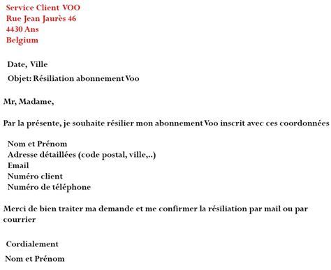 Lettre De Résiliation Zone Blanche Modele Lettre Resiliation Bouygues Zone Blanche Document
