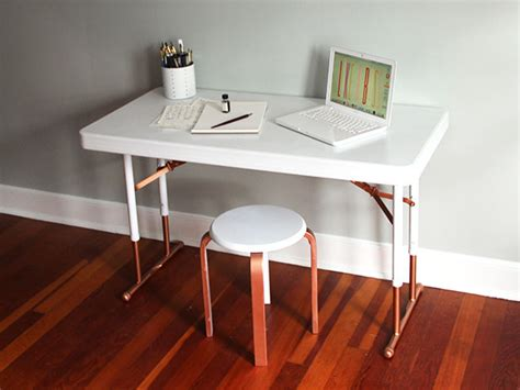 upcycle a plastic folding desk into a chic desk how tos