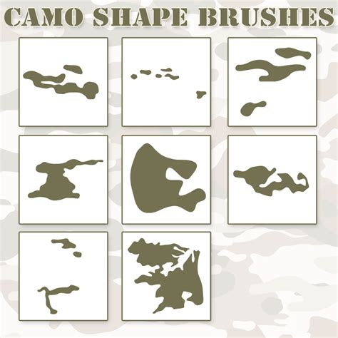 shape pattern brushes photoshop camo shapes ps brushes by retoucher07030 on deviantart
