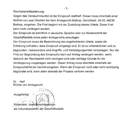Confirmation Letter Um Zivilprozess F 246 Rster Markus Herber Gegen Adrian