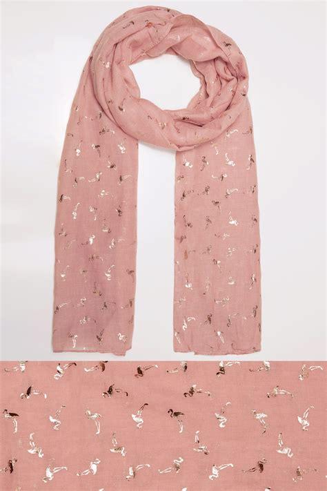 Uk Address Finder By Name Pink Foil Flamingo Print Scarf
