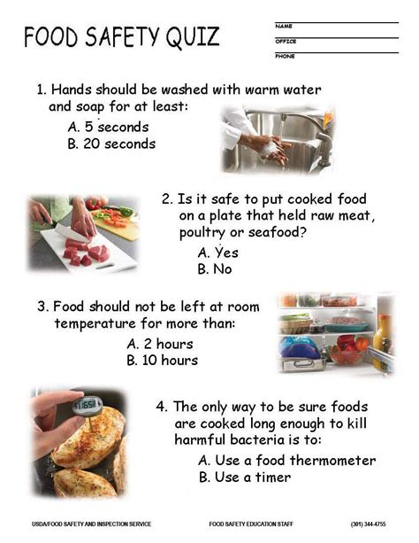 food safety quiz
