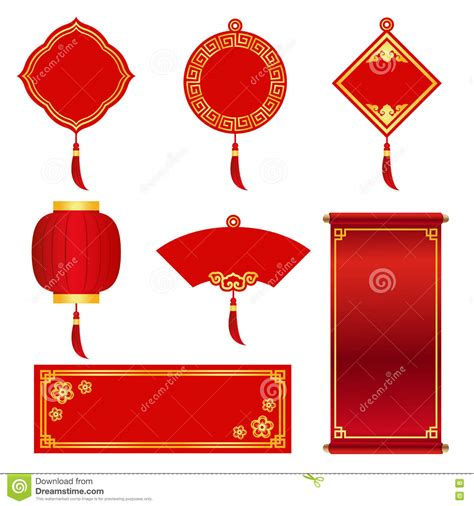 printable chinese new year banner red and gold banner label for chinese new year and chinese
