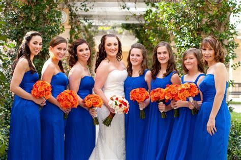 orange blue wedding every last detail