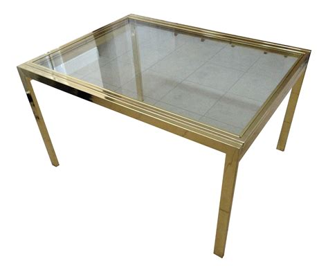 expandable glass dining table vintage brass glass dia expandable dining table chairish