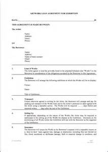 Art Loan Agreement Template artwork loan agreement