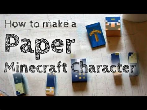 How To Make A Paper Steve - how to make a paper minecraft steve how to make do
