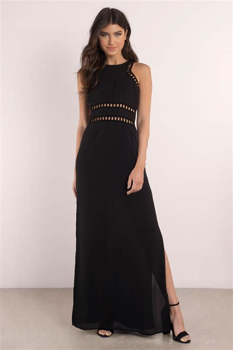 Black Maxi black dress bodice dress slit dress dress