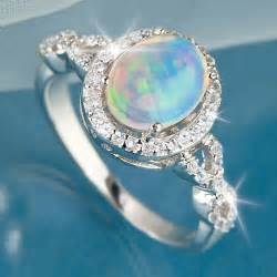 Opel Rings Trends For Gt Blue Opal Rings For Jewelry