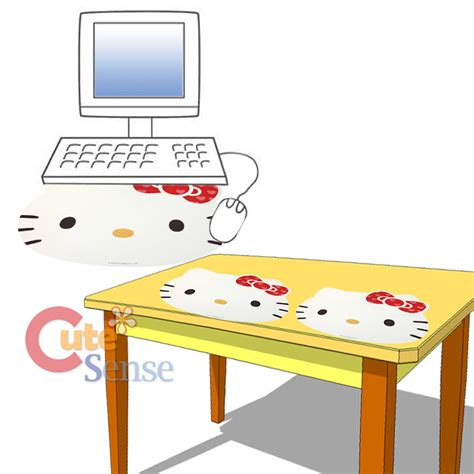 Sanrio Hello Kitty Face Computer Mouse Pad 17 Quot Xl Table White Desk Mat