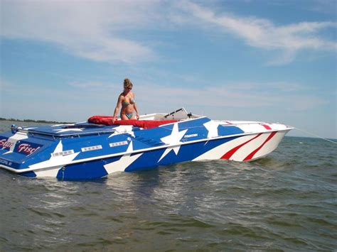 boat names with red americana quot red white blue quot 1996 fountain lightning