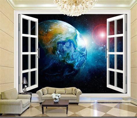 solar system space wallpaper mural kool rooms for kool kids space bedroom wallpaper aliexpress buy 3d stereo window