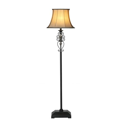 traditional iron standard l free standing lighting