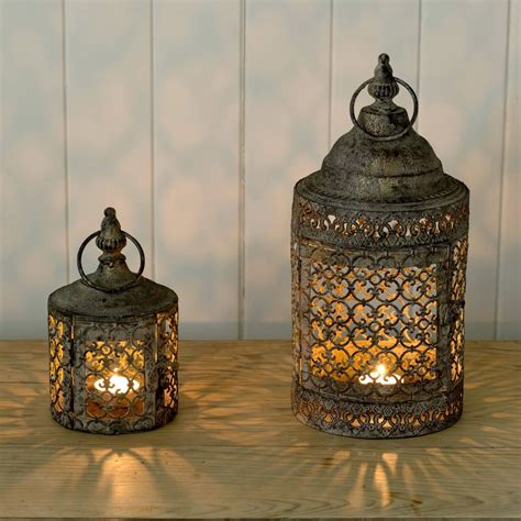 moroccan style moroccan style lattice candle lantern by the flower studio