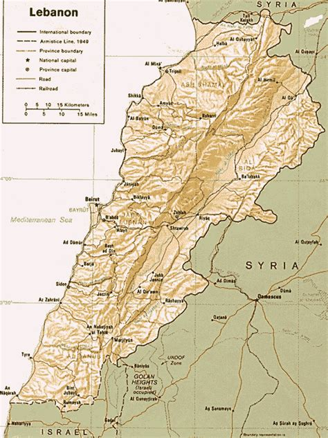 physical map of lebanon lebanon map map all maps of the world