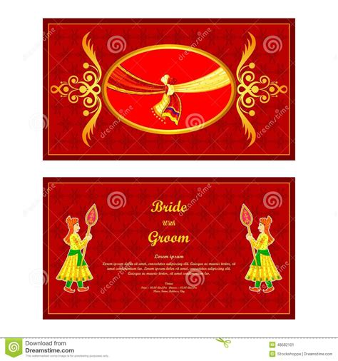 Nepali Wedding Banner by Indian Wedding Invitation Card Stock Vector Image 48582101