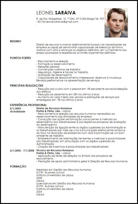 Modelo De Curriculum Vitae Recomendado Modelo Curriculum Vitae Diretor De Recursos Humanos Livecareer