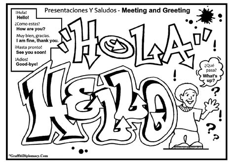 coloring pages with spanish words spanish word pages graffiti coloring pages