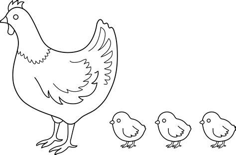 free coloring pages of baby chicks
