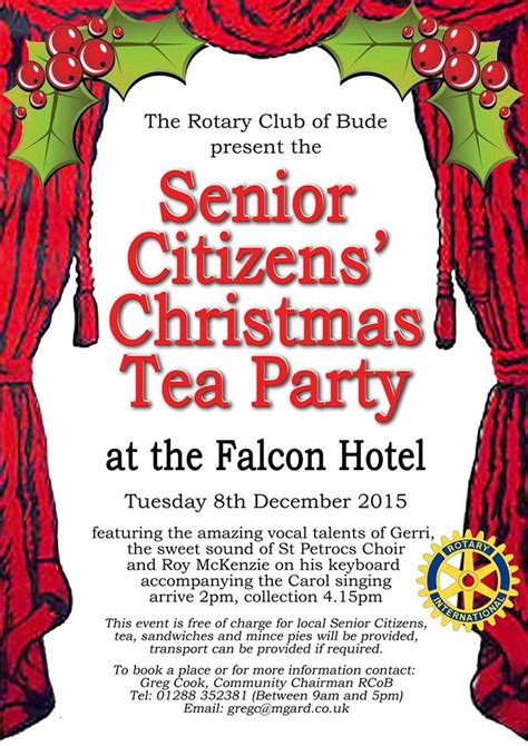 christmas party ideas for senior citizens senior citizens bude bude and beyond be local