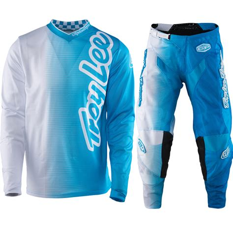blue motocross gear troy lee designs new 2017 gp air vented 50 50 white blue