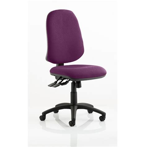 home office chair in purple with castors 29778
